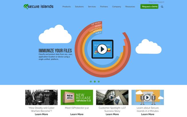כך נראה 'Secure Islands' במסך מחשב / לפטופ